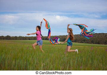 sano, estate, bambini, libertà
