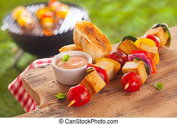 sano, estate, barbecue, pranzo picnic