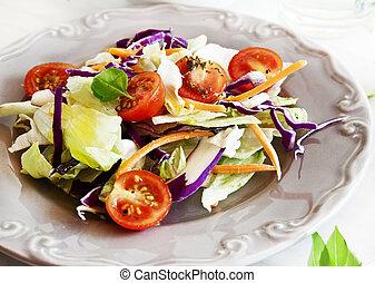 sano, estate, insalata