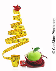 sano, feriado, alimento, y, dieta
