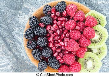 sano, fresco, colazione, frutta