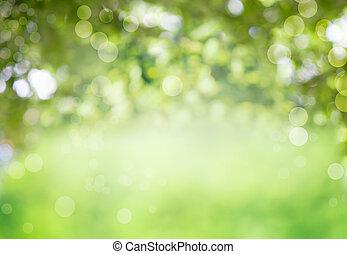 sano, fresco, fondo verde, bio