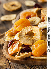 sano, fruta, orgánico, secado, variado