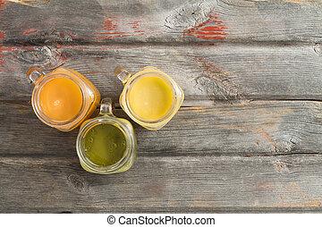 sano, fruta tropical, refrescante, jugo