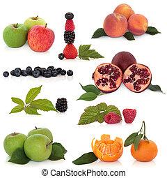 sano, frutta, collezione