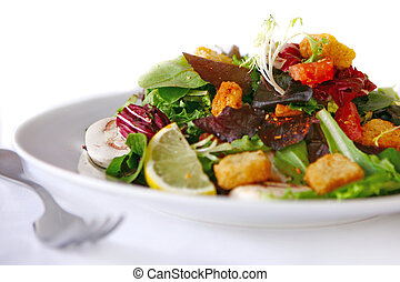 sano, insalata, bianco