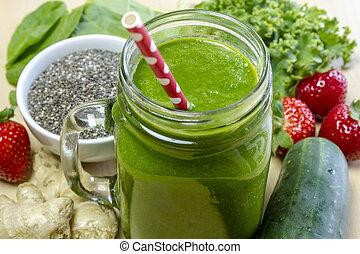 sano, jugo, Bebida, verde, Zalamero