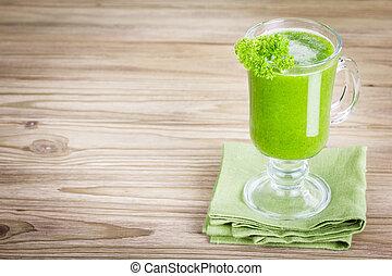 sano, jugo, verde, Zalamero