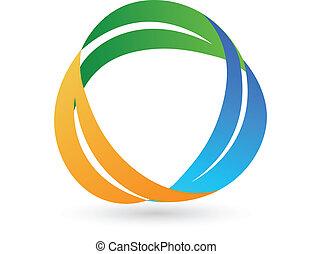 sano, leafs, logotipo