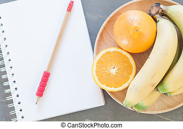 sano, lista de compras, fruits