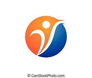 sano, logotipo