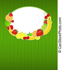 sano, menu, illustrazione, cibo, vettore, sagoma