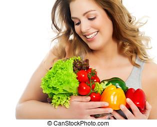 sano, mi, veggies