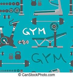 sano, modello, palestra, seamless, tessile, addestramento, bodybuilding