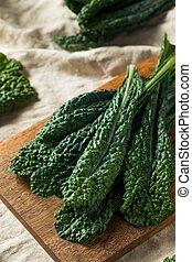 sano, orgánico, verde, col rizada, lacinato