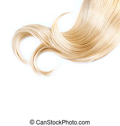 sano, pelo rubio, aislado, blanco