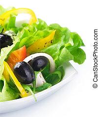 sano, salad., concepto, comida