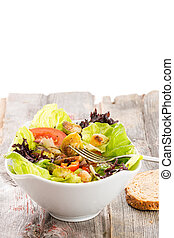 sano, vegetariano, insalata