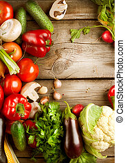 sano, verdura, legno, organico, fondo