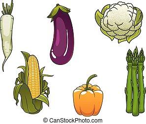 sano, verdure fresche, fattoria, isolato