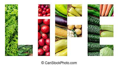 sano, verdure fresche, set
