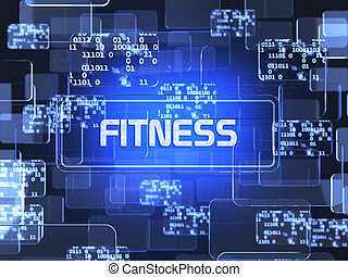 sano, vida, pantalla, concepto