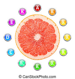 sano, vida, toronja, vitaminas