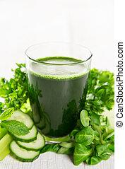 sano, vidrio, verde, vegetales, Zalamero