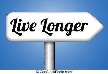 sano, vivo, vida, más tiempo