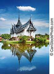 sanphet, palazzo, prasat, tailandia