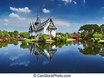 sanphet, prasat, palacio, tailandia