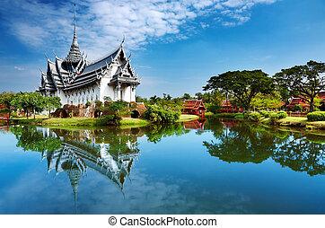 sanphet, slott, prasat, thailand