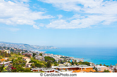 Sanremo, famous town on the Liguria, Itally - Panorama of...