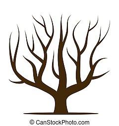 Clipart vecteur de feuilles sans arbre csp14810069 - Dessin arbre sans feuille ...