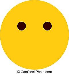 sans, bouche, emoji