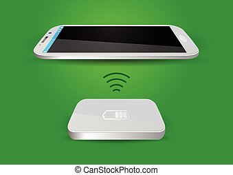 sans fil, batterie, smartphone, chargeur