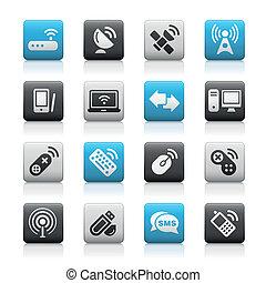 sans fil, communications, mat, /, &