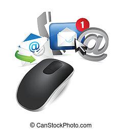 sans fil, contact, souris, nous, informatique