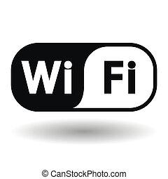 sans fil, symbole, réseau