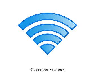 sans fil, téléphone portable, icône