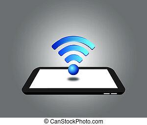 sans fil, tablette, numérique