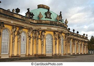 Sans Souci Palace - Front of Sans Souci Palace in Potsdam,...