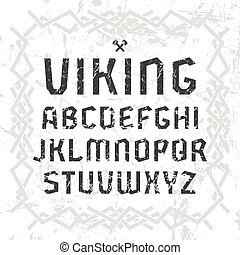 Sanserif font in historical style