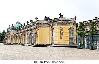 Sanssouci Palace in Potsdam Germany on UNESCO World Heritage...