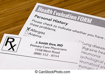 santé, évaluation, formulaire