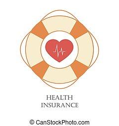 santé, assurance, signe