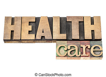 santé, bois, type, soin