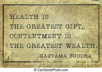 santé, bouddha