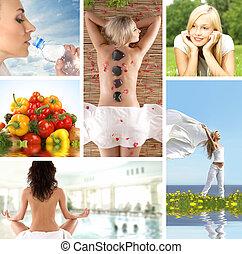 santé, collage