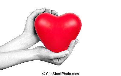 santé, concept, amour, assurance, ou